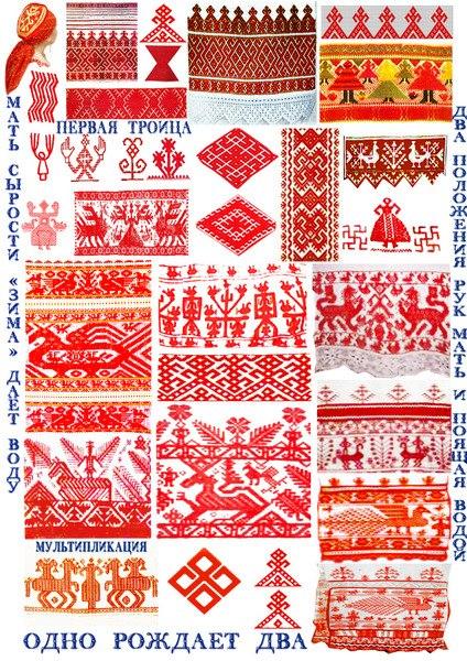 Значение символов славянской вышивки